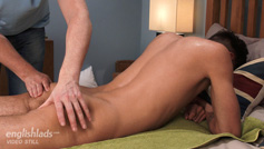Straight Hung Casias gets Massaged for the 1st Time and Shoots Everywhere!