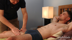 Fit Young PT Matteo Romano Enjoys a Man Massage and What a Cumshot!