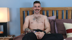 Straight Young & Hairy Rugby Player Miles Wanks his Big Uncut Cock & Squirts for England!