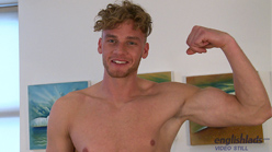 Tall & Muscular Straight Lad Noah Wanks his Massive Cut Cock & Drowns Himself in Cum!