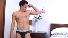 Hairy Muscular Straight Hunk Phil - Proud Owner of a Massive Uncut Cock!