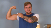 Muscular Personal Trainer Ralph Enjoys Flexing his Muscles & his Uncut Cock!