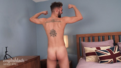 Young Muay Thai Expert Ronan Wanks His Uncut Cock Cums All Over His Hard Abs