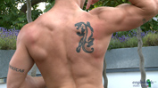 Confident Str8 Hunk Scott - Shows Off His Muscular Body and Shoots a Massive Load!