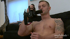 Straight Young Athlete Thomas Shows us his Muscles & Rock Hard Uncut Cock & Shoots Big!