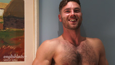 Straight Hairy Hunk Tom Lawson gets his 1st Manhandling and Wow Cums, Cums & Cums Some More!