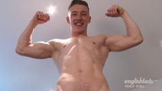 Young Straight Blond Hunk Tom Reveals His Ripped Body and Ultra Big Uncut Cock!