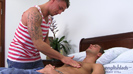Straight Favourite Tyler Hirst sucks his First Cock - Lucky Dan gets Massaged and Blown!