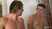 Str8 Royal Marine Tyler kisses and Fucks Str8 Stewart's Hole until he Squirts!