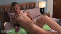 Athletic & Cheeky Young Zack Pumps his Hole with a Dildo & Dumps A Nice Load of Cum!
