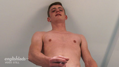Young Straight Footballer Zane Bradshaw Shows his Lean Body & Big Uncut Erect Cock!