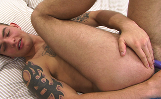 Muscular Pup Andy - His First Anal & Dildo Experience!