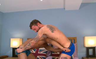 Bonus Video of Barclay Graham and Casey Lee's Photo Shoot - Lad Gets his 1st Man Blow!