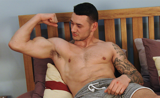 Young Straight PT Dane Spencer Shows his Hairy Body & Shoots & Shoots Far!