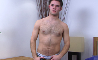 Bonus Video of Hairy Hunk Danny Russell Enjoying his First Cock Sucking by a Guy!