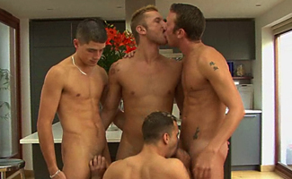 1 Str8 man and 3 gay lads!