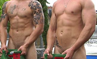 BONUS VIDEO - Str8 Mates Bailey & Andy's Photo Shoot Video - Cum Everywhere!