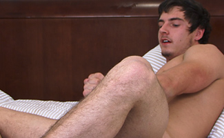 BONUS VIDEO of Straight Young Pup Liam's Photo Shoot Playing with a Vibrator