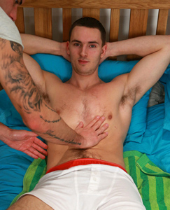 Englishlads.com: Hairy Straight Hunk Leo Agrees to his 1st Manhandling of his Big Uncut Cock!