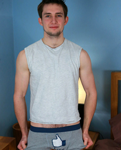 Englishlads.com: Hairy & Toned Young Straight Lad Freddie - One Hairy Hole & Uncut Cock Fires Like a Missile!