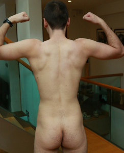 Englishlads.com: Hairy & Very Tall Young Boxing Stud Will has one Massive Uncut Cock!
