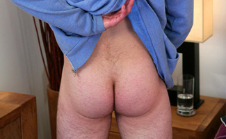 Hairy Young Straight Pup Alex - Lies Back & Wow, Teasing His Hole Shoots Big!