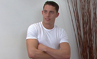 Hard and Defined Mikey A Personal Trainer with Every Muscle Rock Hard & one of them Uncut!