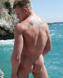 Englishlads.com: Hunky Str8 PT Callum - All Horny in the hot Tropical Sun