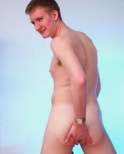 Englishlads.com: Max strips out of his black briefs, bends over and plays with his hole