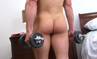 Lance Rowen Muscular Pup Lance - Working out his Muscles and Pumping his Hole!