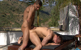 Muscular Straight Royal Marine Tyler gets his First Ever Fucking - Lucky Dan!