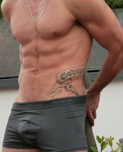 Englishlads.com: Ripped Young Personal Trainer Mikey Shows us His Uncut Cock is as Hard as his Abs!
