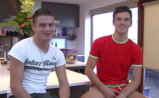 Will Jamieson & Rick Lewis Str8 hunk Rick gets fucked