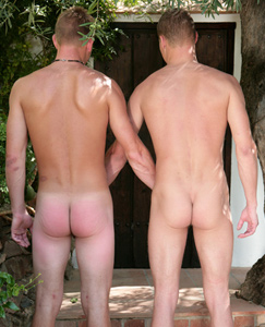 Englishlads.com: Str8 hunks Liam and Zack playing with each other in the hot summer sun!