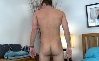Tim Riley Str8 Lad Tim - Shows His Hole and Massive Thick Uncut Cock!