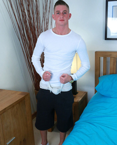 Englishlads.com: Str8 Pup Leigh Works His Ass With Our Entire Dildo Collection!