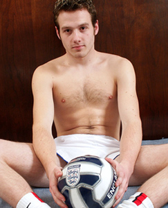 Englishlads.com: Straight footie guy Will shows off his curved cock and hairy hole