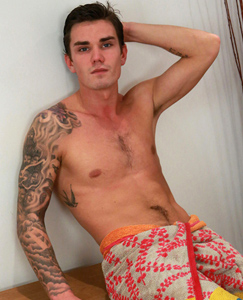 Englishlads.com: Straight Muay Thai Fighter Harvey Shows off His Thick Uncut Cock & Special Tattooed Hole!