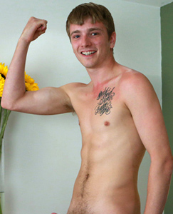 Englishlads.com: Straight & Tall Blond Uncut Pup Jamie has his 1st Dildo Experience!