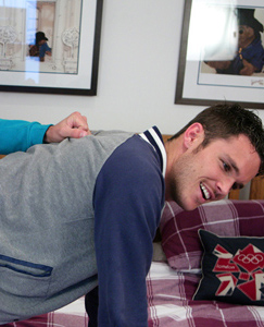 Englishlads.com: Straight Young Footie Hunk Jay gets Fucked for the 1st Time - Dan Rams in his Big Uncut Cock!