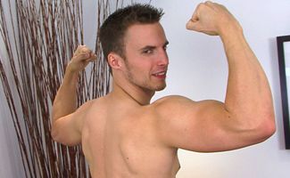 Straight Young Personal Trainer Will - Toned with a Rock Hard Uncut Erection!