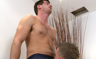 Tall Hairy Muscular Hunk Doug Mitchell Shoves his Big Uncut Cock up a Willing Young Josh!