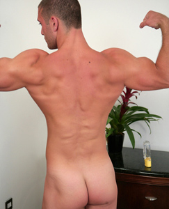 Englishlads.com: Tall Muscular Hunk James Branson - Check out this Personal Trainers Big Gun!