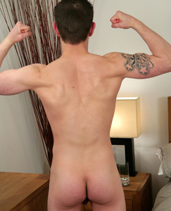 Englishlads.com: Young Footballer Brad King - Firm Bodied with a Long and Very Hard Erect Uncut Cock!
