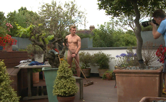 Bonus Video of Freddie Roger's Photo Shoot - Young Straight Blond Pup Shows us his Uncut Cock in a Blond Fuzz!