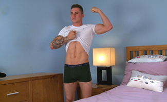 Bonus Video of Hugo Jone's Photo Shoot - Straight Lad Wanks his Big Uncut Cock & Invites his Mate Noah!