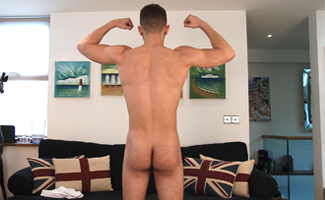Bonus Video of Jack Montague's Photo Shoot - Young Athletic Lad Shows us his Big Cock!