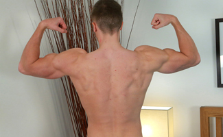 Tall and Ultra Lean Young Bodybuilder James - Hairless, Uncut Ultra Hard & Cums Huge!