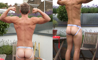 Bonus Photo Shoot Video - Straight Hunk Jamie Flapping Around his Big Uncut Cock
