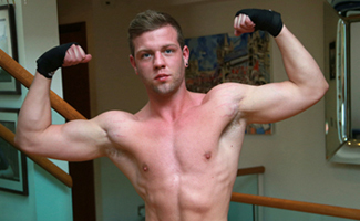 Young Straight Boxer Joey Shows us his Hefty Uncut Erection & Fingers his Hole!